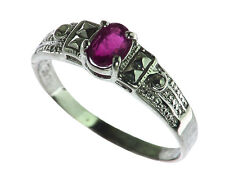 Ruby Natural Genuine gemstone Sterling Silver Ring RSS437