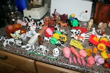 Lot 80 Piece Fisher Price Tractors Trailers Chickens Pigs Cows Horses Farm Items