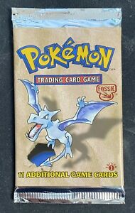 Pokemon Fossil Booster Pack From Factory Sealed Box,UNWEIGHED,You Receive 1 Pack