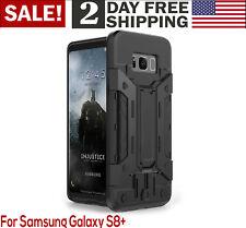 Samsung Galaxy S8 Plus Wallet Case Card Holder Kickstand Heavy Duty PC TPU Cove