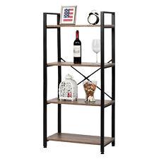 4 Tiers Vintage Storage Rack Bookcase Shelf Plant Display Stand Ladder Metal