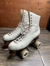 VTG Riedell 220W Roller Skates Size 6 ? 4 ? Skates White N29