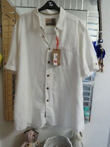 NORTH COAST SIZE XXL MARKS AND SPENCER NWT WHITE SHORT SLEEVED SHIRT A2