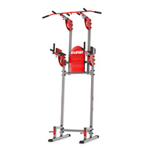 POWER TOWER DIP STATION PULL UP CHIN UP KNEE LEG RAISE MULTI GYM UK STOCK
