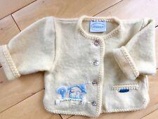 Giesswein Austrian 24 month 2t cardigan wool sweater jacket yellow Nwt