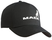 Mack Trucks Black & White Twill Bulldog Logo Trucker Style Hat Cap Diesel