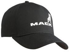 Mack Trucks Black & White Twill Bulldog Logo Trucker Style Hat Cap