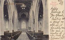 Parish Church KENDAL Cumbria England 1906 Stengel & Co. CHRISTMAS Postcard