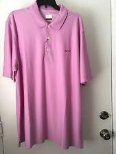 Greg Norman Men's Play Dry  Golf Polo Shirt - Light purple  XXL NWT