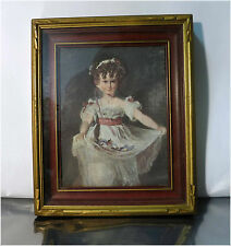 Vintage 1969 DAC NY Print in Wood Picture Frame, Miss Murray, by Thomas Lawrence