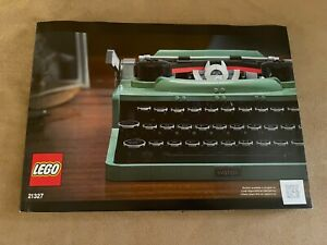 Lego INSTRUCTION BOOK ONLY 21327 typewriter Ideas manual