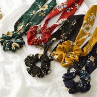 Women's Girl Elastic Ribbon Hair Tie Hairband Scrunchie Ponytail Holder Bracelet