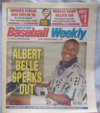1995 USA Today Baseball Weekly ALBERT BELLE CLEVELAND INDIANS 12/5/95