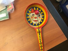 RARE HALLOWEEN 8 INCH CLOWN NOISE MAKER METAL VINTAGE NOISEMAKER