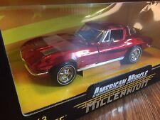 Rare Ertl American Muscle Millenium 1963 Corvette Vhtf Metalllic Red Millennium
