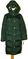 London Fog Women's Down Coat Polyester Quilted Parka Faux fur Collar Jacket~XL
