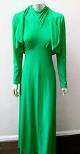 Vintage Mod Boho 70s 2 Pc Halter Ruffled Cropped Jacket Hippy Dress Suit sz 9