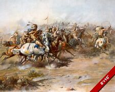CUSTERS LAST STAND LITTLE BIG HORN BATTLE US ARMY PAINTING ART CANVAS PRINT