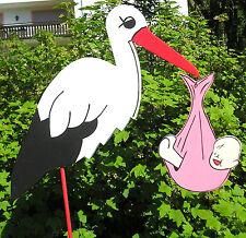 💕110 cm Klapperstorch -Storch zur Geburt Windelfarbe wählbar % Sonderpreis %