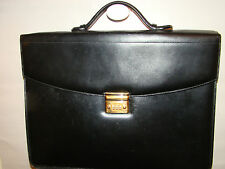 vintage pre-owned authentic MONT BLANC meiserstruck dbl gusset black briefcase