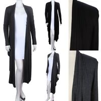 Gorgeous Long Draped Open Cardigan Solid and Plain Stylish Long Sleeve S M L