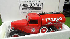 FORD V8 CITERNE TEXACO FIRE CHIEF Pompiers 1/18 SOLIDO 99103 voiture min pompier