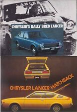 Two 1977 CHRYSLER MITSUBISHI LB LANCER SEDAN & HATCHBACK Australian Brochures