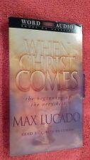 When Christ Comes by Max Lucado (1999, Cassette, Unabridged)
