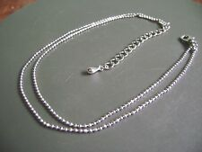 "Nwot- Double Beaded Chain Bright Silver Tone Anklet/ Bracelet- 8"" Lenth"