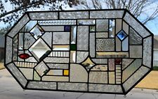 """The Choice Is Clear' Contemporary Stained Glass Window Panel, 13 x 24"