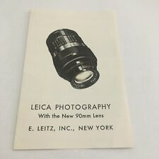 EARLY LEAFLET FOR LEICA PHOTOGRAPHY WITH ELMAR 90mm LENS -FREE SHIPPING