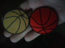 """Basketball EMBROIDERED PATCH iron-on 2 -1/4"""" Diameter"""