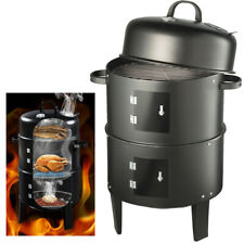 Vivo Black BBQ Charcoal Grill Barbecue Smoker Garden Outdoor Cooking Steel Smoke