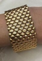 "Bronzo Italia Rose Colored Bronze Bold Polished Mesh Bracelet 8"""