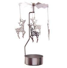 Rotierender Teelichthalter Rentier Weihnachten metall kerze B057