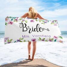 Bridal Beach Towel, Personalized Honeymoon Gift For Bride, Custom Wedding Towel