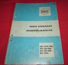 Parts Catalogue Reservdelskatalog Volvo Penta AQ 115 A / 100 139 / 250 BB 115A