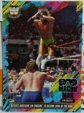 2018 TOPPS WWE MACHO MAN TRIBUTE OF DEFEATS HACKSAW TO BECOME KING OF THE RING