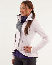 LULULEMON pedal power jacket size 4 in blush rose and coal