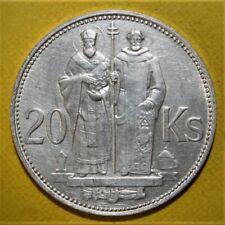 Slovakia 20 Korun 1941 Uncirculated Silver Coin - WWII