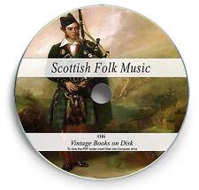 132 Rare Scottish Folk Song Books DVD - Ancient Scotland Celtic Bagpipe Music H6