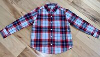 OLD NAVY BOYS NAVY BLUE & RED PLAID BUTTON DOWN SHIRT SIZE 5T EXCELLENT COND LD1