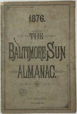 Baltimore Sun Maryland Almanac 1876