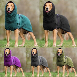 Dog Puppy Hooded Jacket Solid Coat Pet Soft Fleece Vest Winter Warm Clothes S-5X