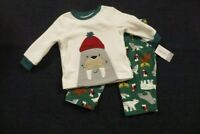 NEW Carter's Baby Boys 2 Piece Woodland Print Fleece Pajamas 12 Months  NWT