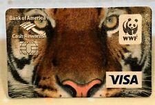 Bank of America WWF Tiger Visa Promo Promotional Fake Credit Card on Cardstock