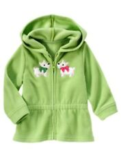 Gymboree CHEERY ALL THE WAY micro fleece puppies hoodie jacket size 6-12 mos NWT