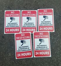 VIDEO SURVEILLANCE CCTV Security Decal  Warning Sticker (2.25x3.325)set of 5