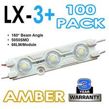 100 x LX-3 + 5050SMD LED SIGN Making moduli 160 ° INIEZIONE SAGOMATO-AMBRA