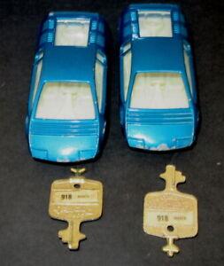 Vintage Corgi Rockets 918 BIZZARRINI MANTA Car & Key Gt Britain (2 Available)